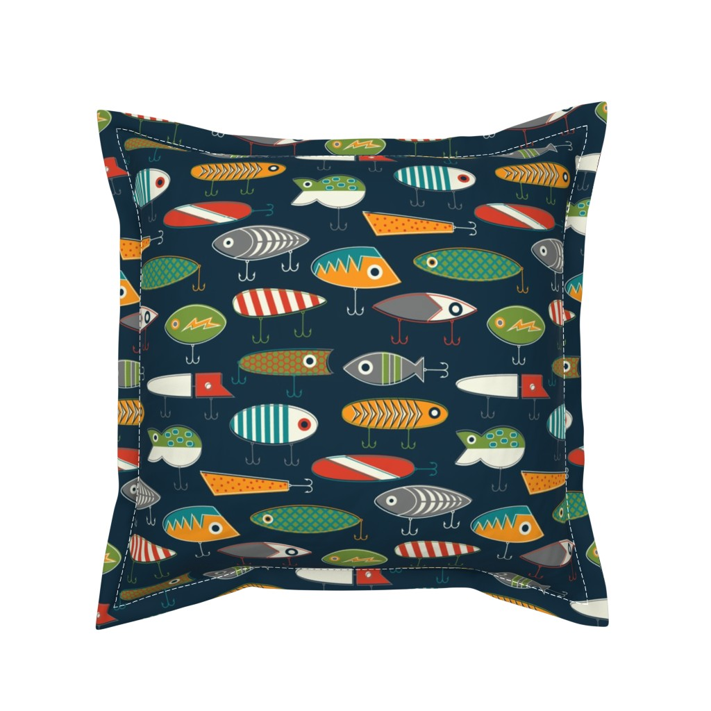 Serama Throw Pillow featuring Hooked Up Navy by katerhees
