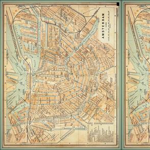 Amsterdam map, vintage