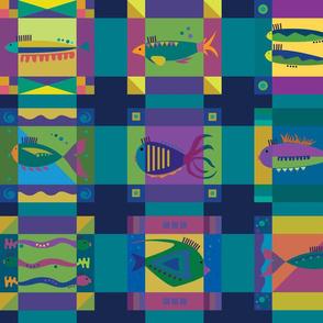 Fish mossaic