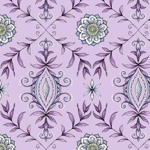 Nature's Damask - Purple