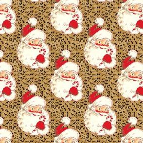 Santa Leopard cheetah Christmas med size