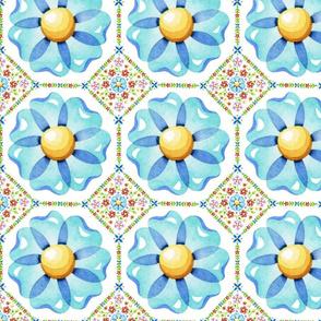 Blue Daisy Boho