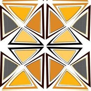 African Wax Print Wedges / Mirror
