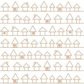 Houses in my Neighborhood- Orange