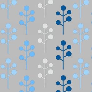 Mod Trees - blue/grey