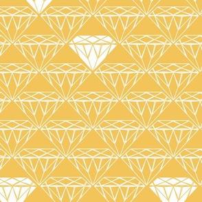 white line diamonds on mustard