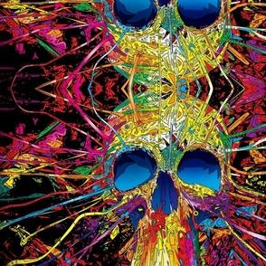 multi colors skulls