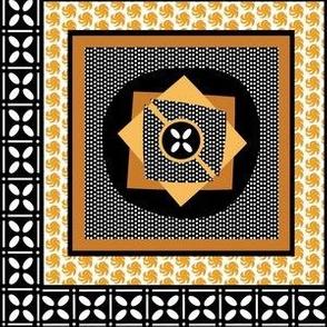 African Wax Print Wonky Dot/Squares