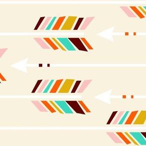 Large Arrows: Horizontal Ivory