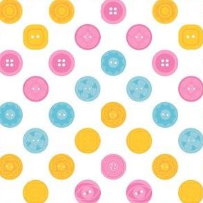 Vintage Buttons Zig Zag Polka Dots
