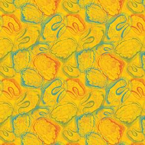 Shell I? Shan't I? Sea Shell Fabric in Yellow