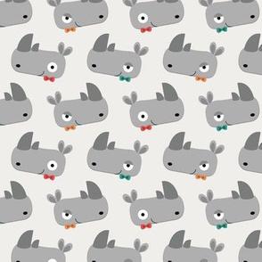 Rhinoceroses with bow ties