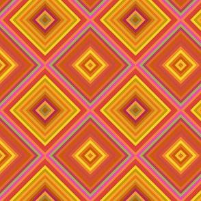 Orange Diamond Geometric
