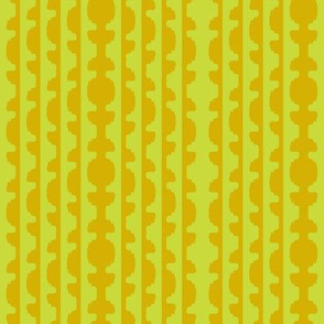 Topiary Stripe   -Dark Yellow and Soft Lime