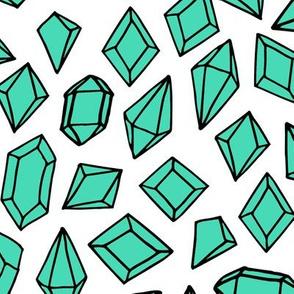 crystals // gem gemstones geode fabric light green bright design andrea lauren fabric