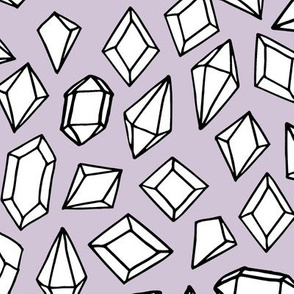 crystals // gems gemstones crystal fabric purple geodes geodesic fabric andrea lauren design