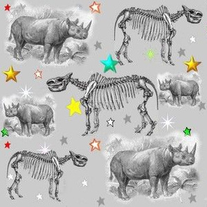 Museum Animals | Rhino Stars Grey