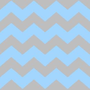 Chevron Blue/Grey- Light -Large