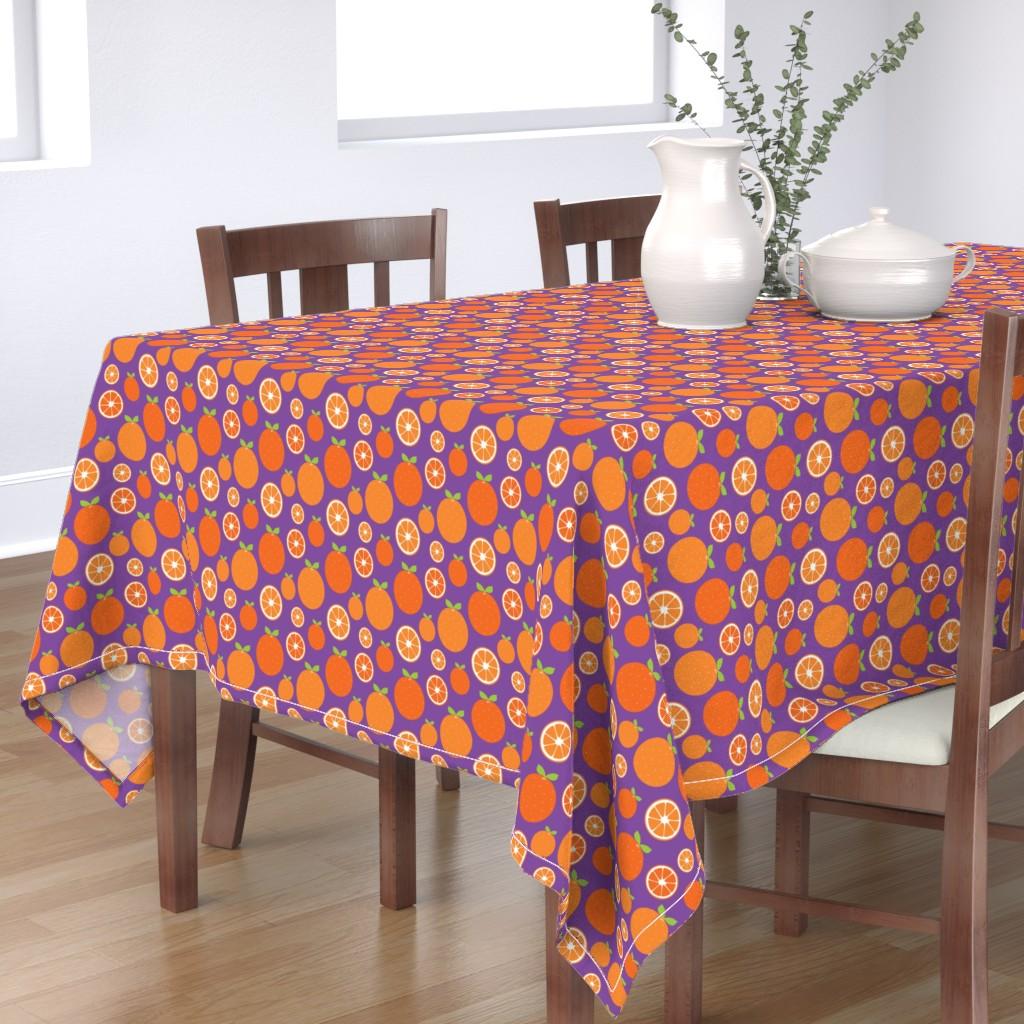 Bantam Rectangular Tablecloth featuring Orange Slices by ariel_kinsler