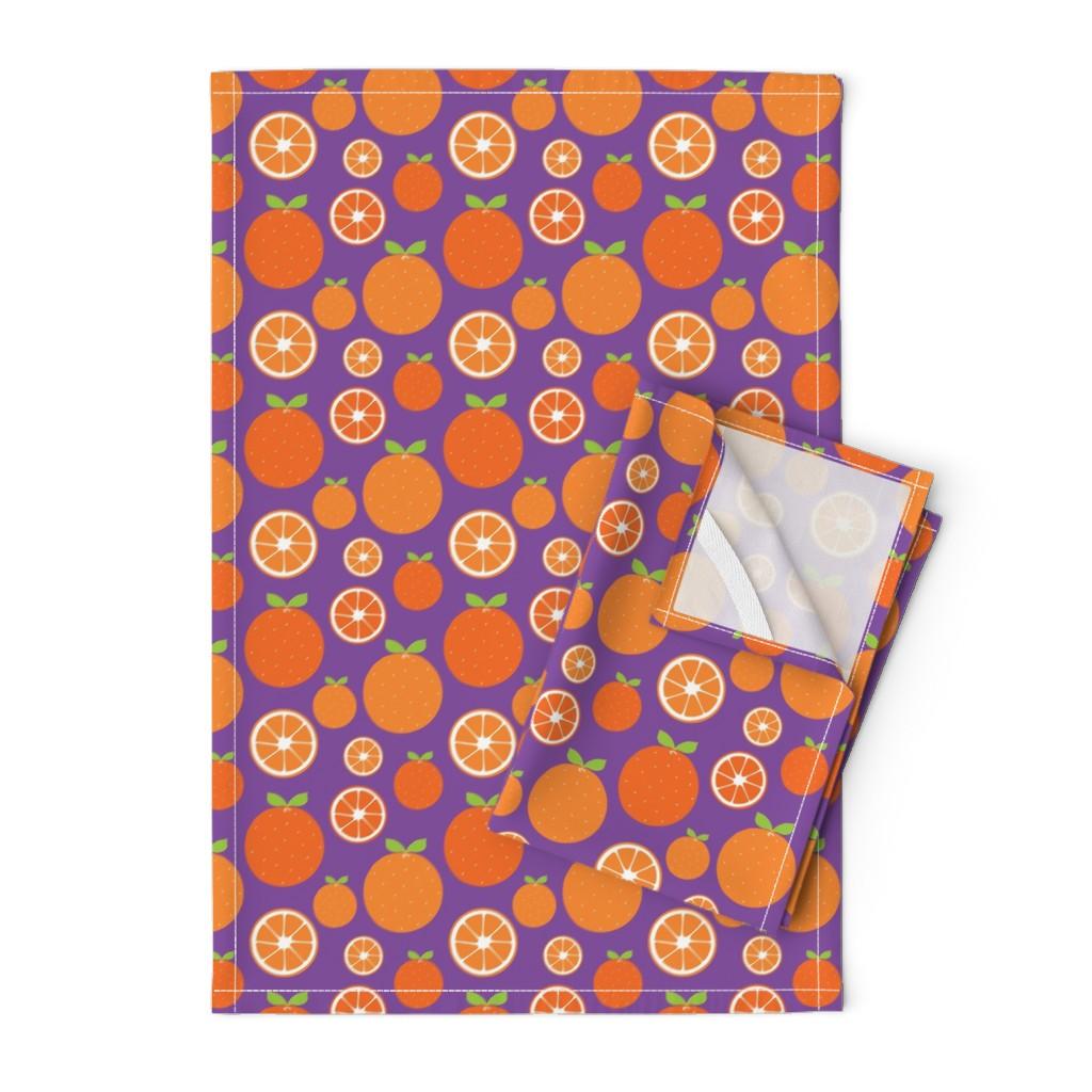 Orpington Tea Towels featuring Orange Slices by ariel_kinsler