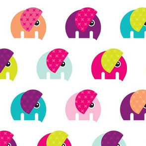 Cute baby elephant parade girls theme XL