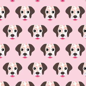 Spot the dog dalmatian pink puppy illustration girls pattern