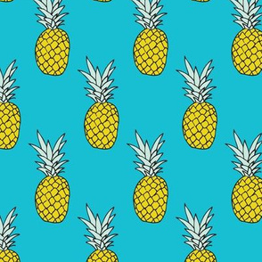 Hot summer pineapple ocean blue