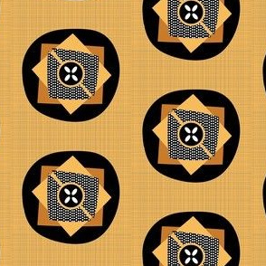African Wax Print Simple Dots