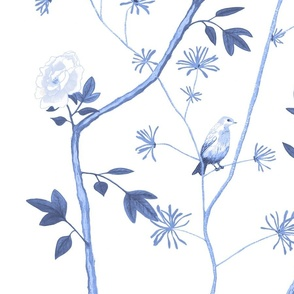 Jenny Peony in delft blue