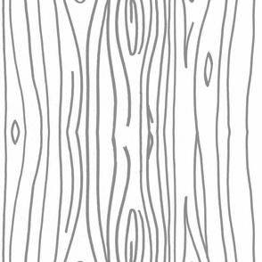 Wonky Wood - Gray Lines