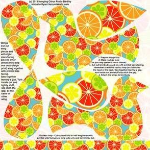 Hanging Flowerbirds Citrus Print