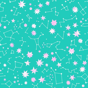 star map turquoise