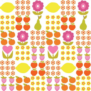 Patchwork Fruit and Flowers