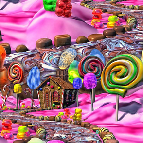 Pink Candyland Seamless