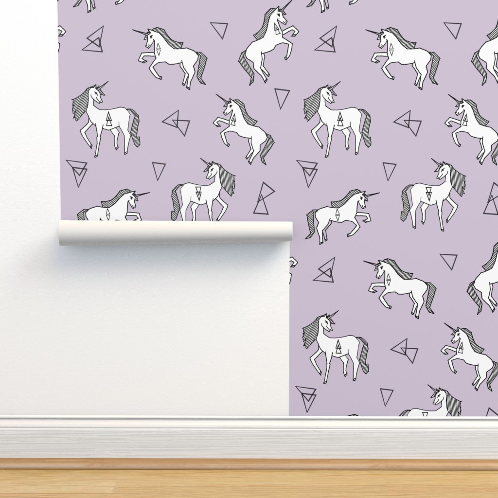 Unicorn Cute Purple Unicorns Pastel On Isobar By
