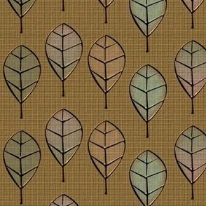 leaves metalworked gilt