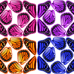 Multi Color Mini Monarch Butterfly Wings Costume