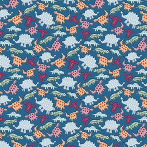 Dinosaurs on Dark Blue