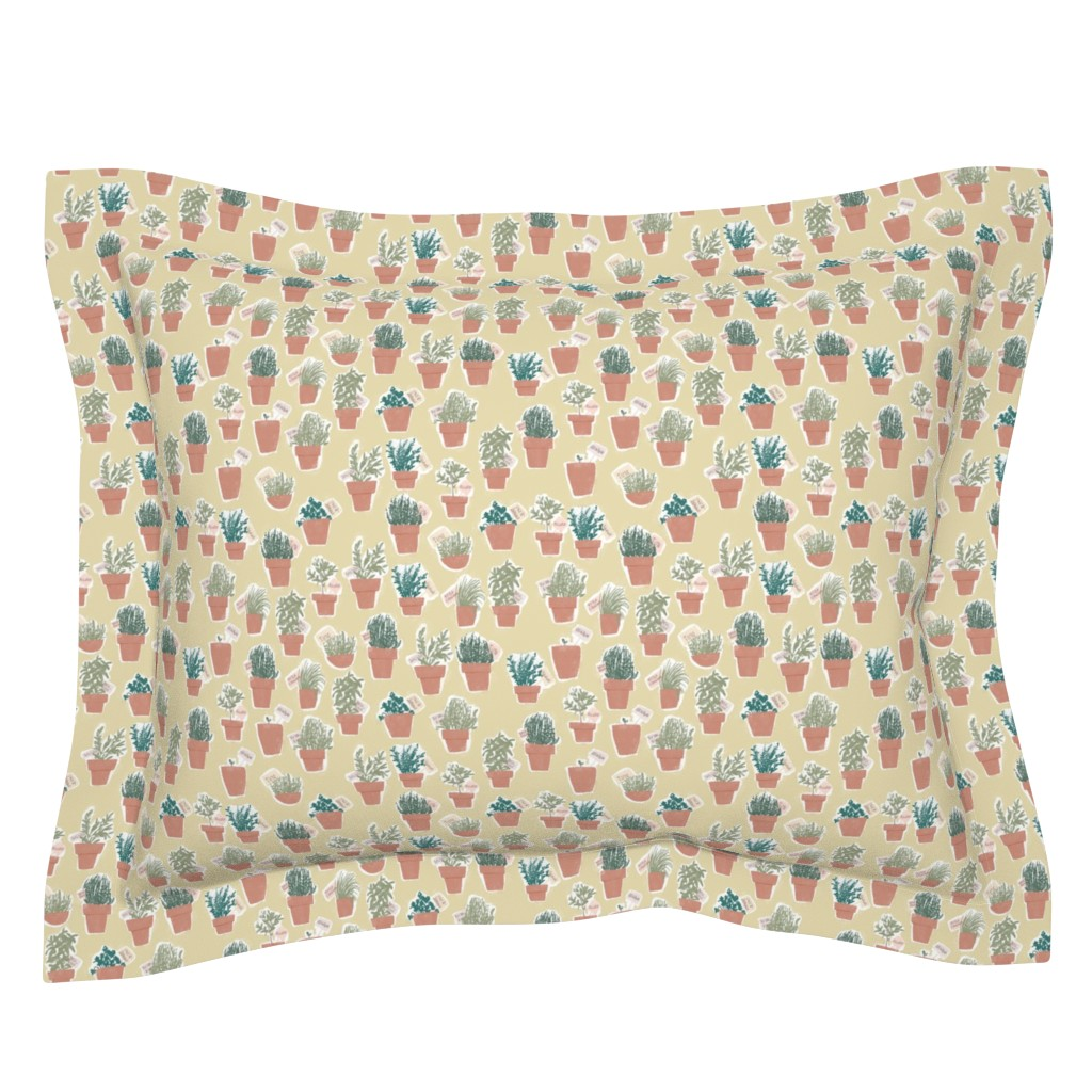 Sebright Pillow Sham featuring Odori - colorway 05 by aliceelettrica