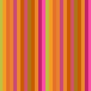 Orange Brown Green Multistripe