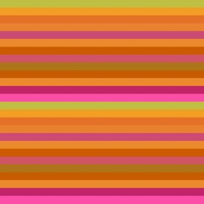 Citrus Horizontal Stripe