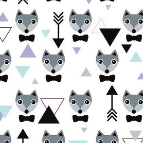 Mister hipster fox geometric pattern and arrows