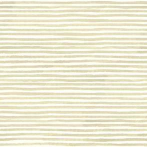 Neutral Tan Watercolor Stripes Small