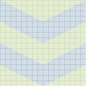 green chevron graph paper