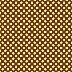 monkey dot brown/yellow