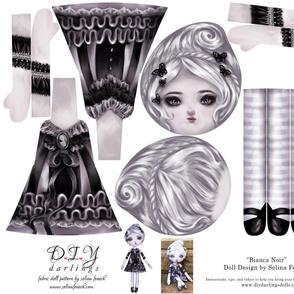 Cut and Sew Doll Bianca Noir Gothic Lolita Girl