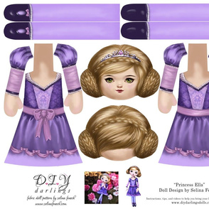 Cut and Sew Doll Princess Ella