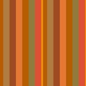 Orange and Green Stripes