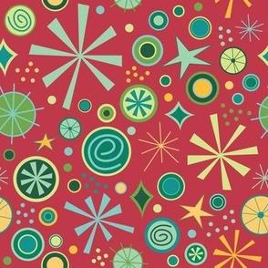 Colorful Christmas Bursts