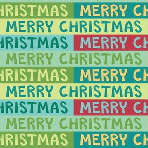 Colorful Merry Christmas Text